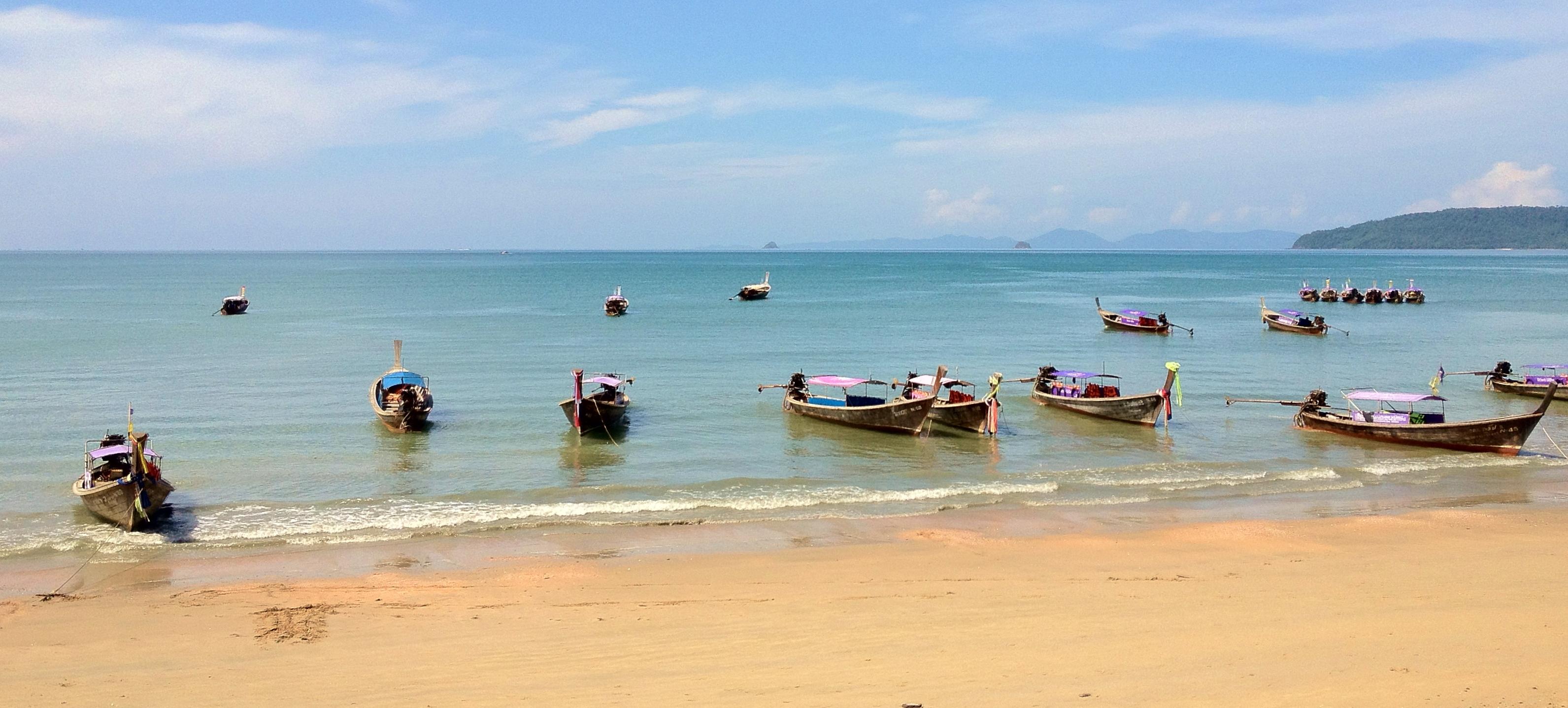 Aonang water taxis at Krabi Thailand