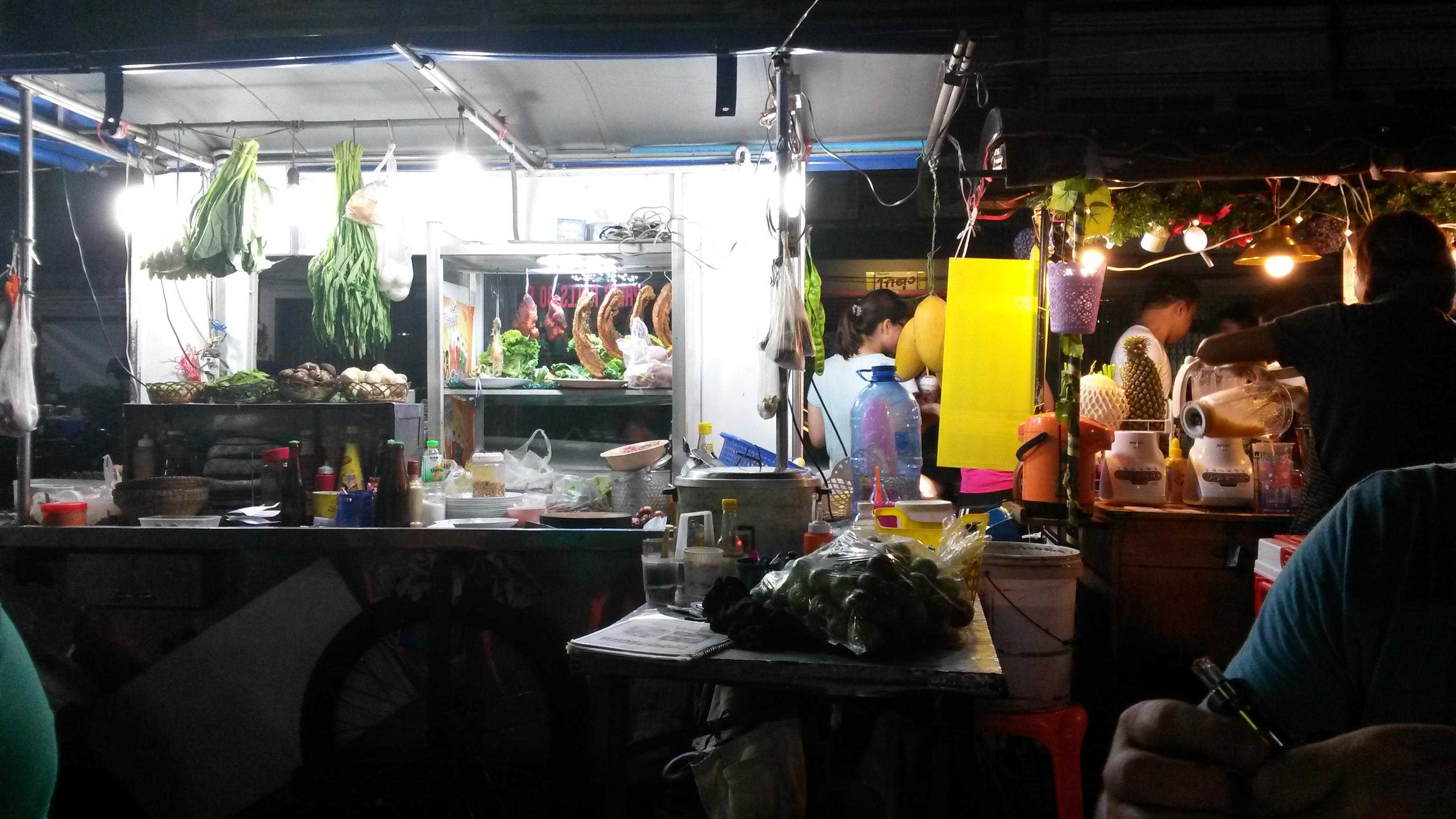 Street cooking Krabi Town