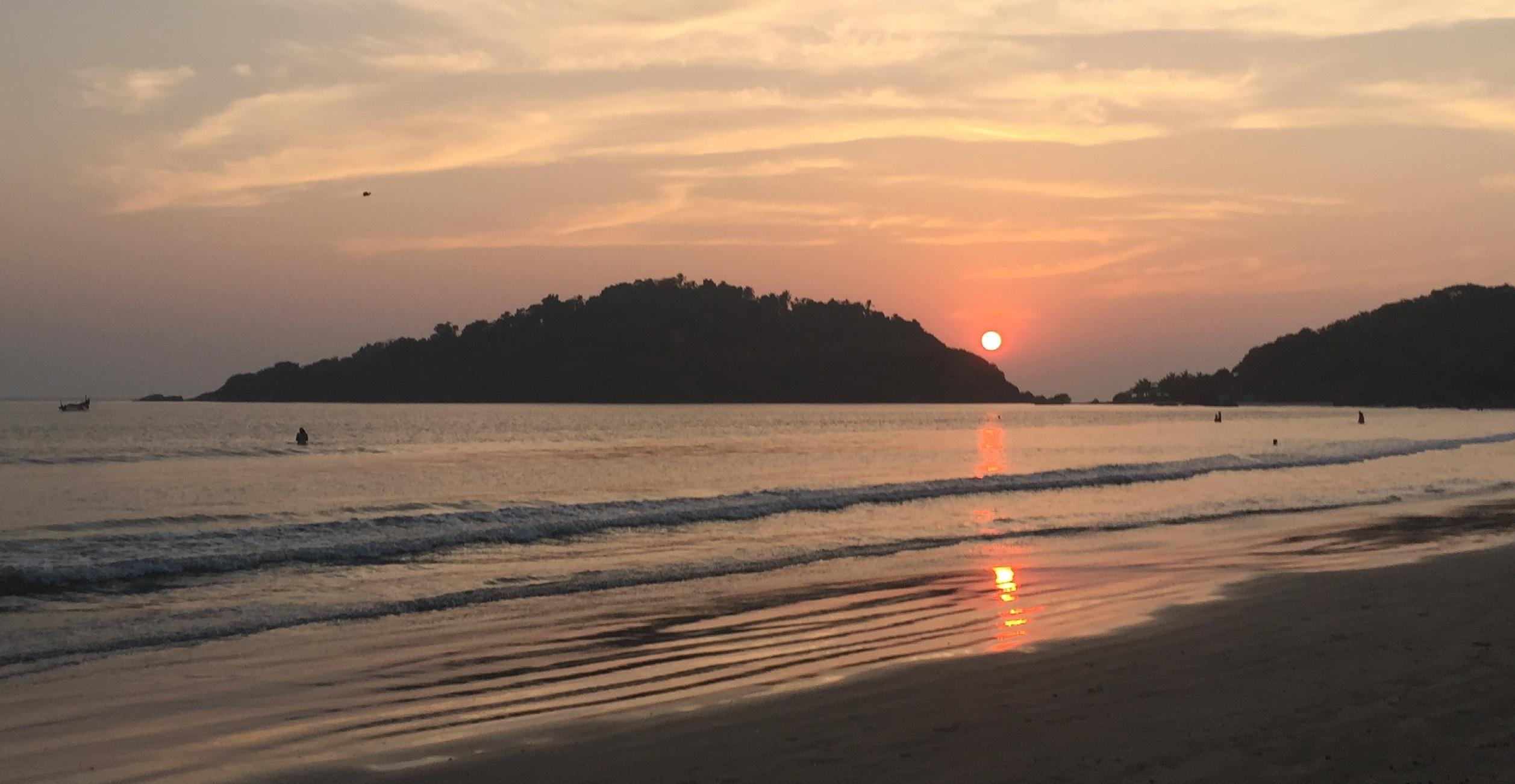 Sunset Palolem Monkey Island