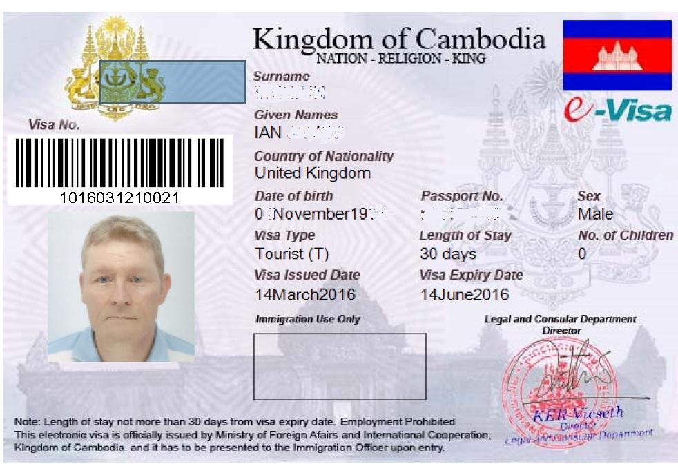 Kingdom of Cambodia E-Visa